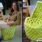 Кресло из мячиков для тенниса