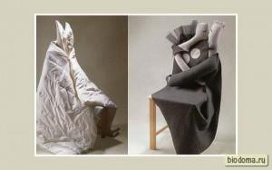 Старый стул, старое одеяло - и новый образ готов...