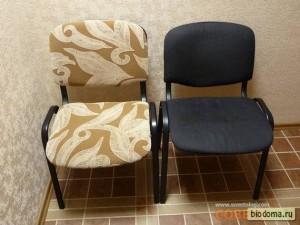 Обычный офисный стул, перетянутый веселенькой тканью