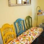 Тройной стул-скамейка