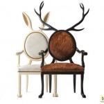 В принципе, такие рога можно приделать к любому стулу со спинкой. Вопрос - будут ли гости сидеть на таких стулья - для меня лично открыт:)