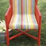 Остов стула и плетеная накидка
