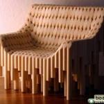 Кресло из деревянных черенков
