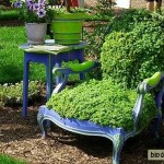 Зеленый травяной стул