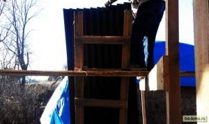 Лестница и подъем ондулина