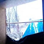 Проем окна без окна, но с откосом