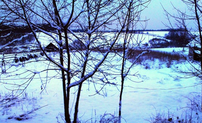 Последний зимний вид из окна без окна