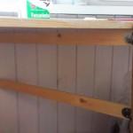 Балконный столик - вид снизу