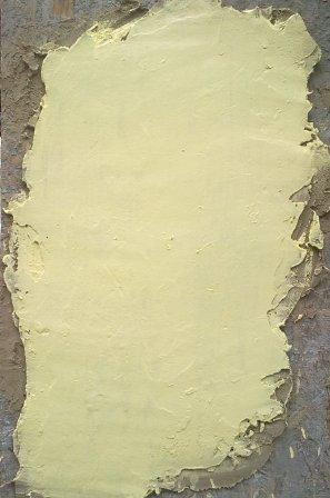 Глиняно-песчаная штукатурка окрашена водоэмульсионной краской