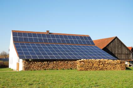 сельский домик в Польше с солнечными панелями
