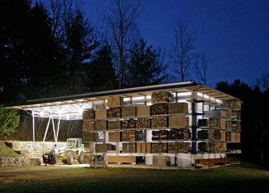 сарай для хранения дров освещение ночью
