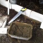 Набор основных инструментов при укладке газосиликатных блоков