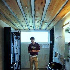 Необрезная доска на потолке - супер