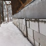 Блоки из ГС, фундамент, снег