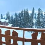 Вид на горы из окна одного из номеров гостиницы Выкрутасы Карпаты