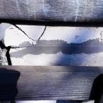 Угол газо-силикатного блока откололся