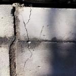 Трещина на газосиликатных блоках