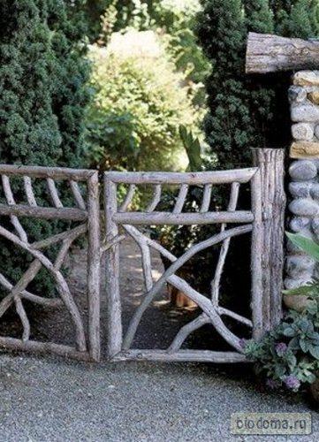 Аналогичные садовые ворота в деревенском стиле...