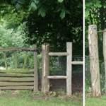 Калитка, ворота и забор из круглых веток