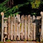 Калитка-ворота из необрезной доски