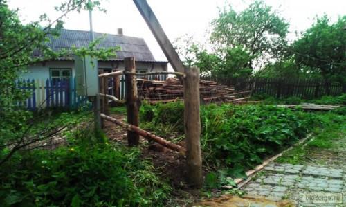 Столбы деревянного забора
