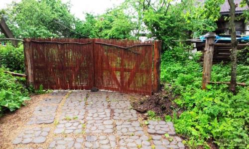 Ворота из лозы 3,5 метра длиной