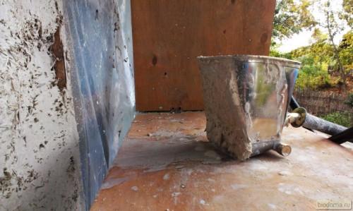 Штукатурная лопата - вид сбоку
