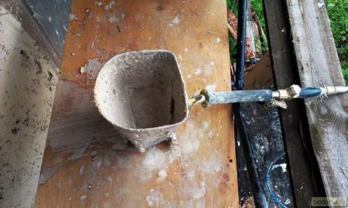 Штукатурная лопата - вид сверху