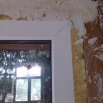 Штукатурка вокруг дверного проема, дверь ПВХ белая
