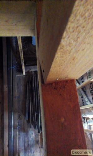деревянную балку покрутило