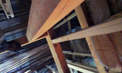 балки перекрытия в деревянном каркасе вид сверху