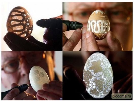 Яйцо с узорами своими руками в подарок