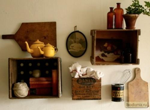 Интересный интерьер на кухне своими руками