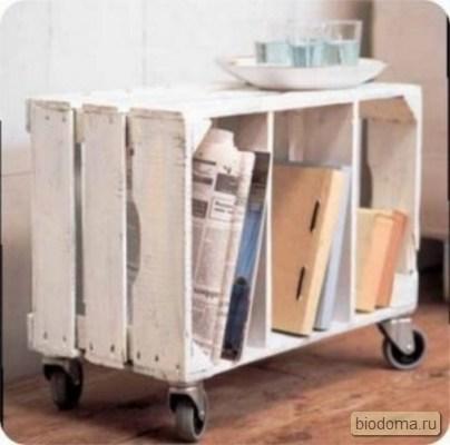 Ящик деревянный с колесиками - фото говорит само за себя.