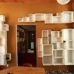 Декоративные ящики на стене