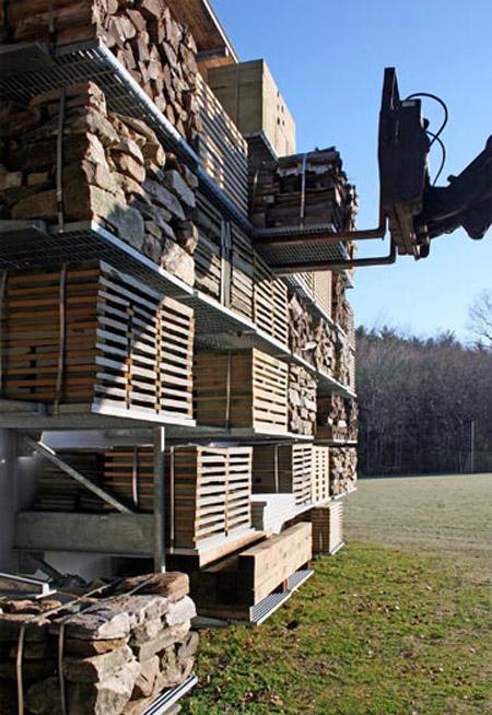 сарай для хранения дров по архитектурному проекту