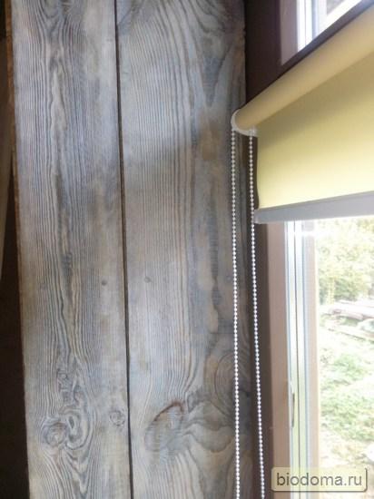 Брашированный откос окна