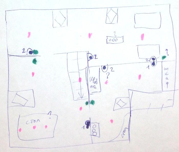 Схема электричества  для мансарды рисунок