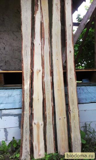 необрезные доски сушатся после отбеливателя древесины