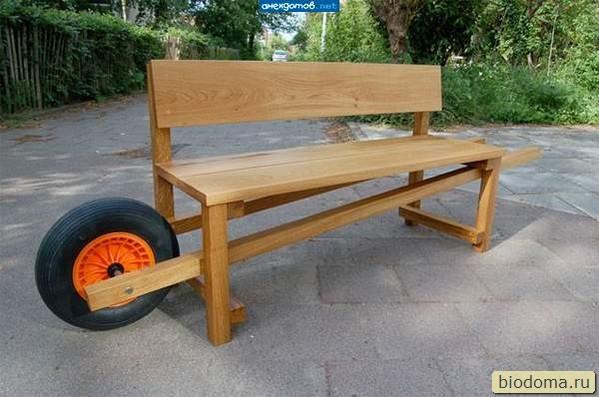 мобильная скамейка с колесом