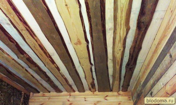 как сделать потолок из досок