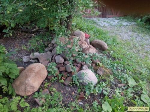 Камни на садовом участке