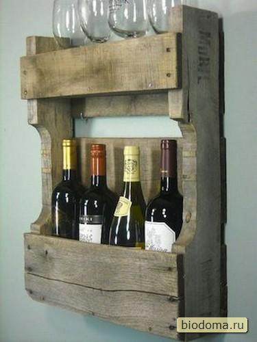 Еще один винный шкаф из части деревянной паллеты