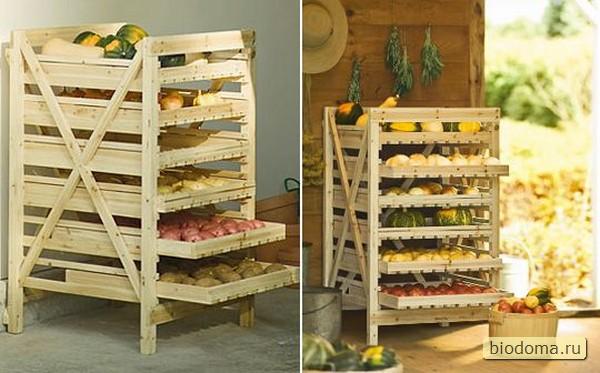 Хранение для овощей дома своими руками 62