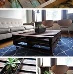 Столики из паллет в разных интерьерах