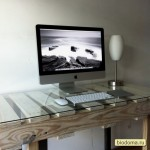 Компьютерный стол со стеклом из паллет своими руками