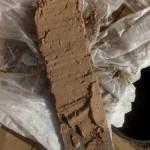 Экспериментальная намазка глины на доску